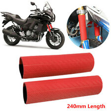 24CM Motorcycle Bikes Fork Rubber Dust-proof Cover Boots Waterproof For Kawasaki
