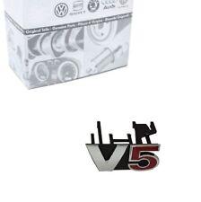 Original VW Golf 4 Bora Passat Beetle V5 Chrom Silber Rot Emblem Vorne Grill NEU