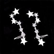 Plata de Ley 925 Circonita Cúbica Big Dipper Estrellas Puño Ascendentes Oruga