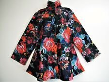 GORGEOUS TRENDY BUTTON THRO MULTICOLOURED  COAT/JKT 100% POLY SIDE POCKETS  L XL