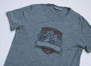Icebreaker Merio Wool Tee T shirt mens Short Sleeve top size M Medium grey