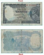 Rare 10 Rs British India Banknote C.D. Deshmukh Signed 100 % Original. G5-62 US