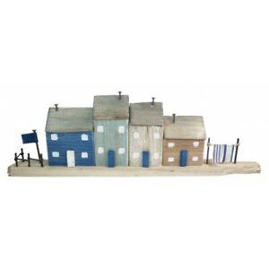COASTAL WOODEN HOUSES ON A BLOCK