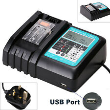 Fast Battery Charger for Makita BL1830 BL1840 BL1850 14.4V-18V 3A (LCD Display)