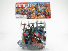 50 PC DELUXE CIVIL WAR TOY SOLDIERS PLAY SET - THE UNION v. CONFEDERATE ARMIES -