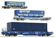 Roco H0 66697 76747 76748 Taschenwagen FRANS MAAS NOVATRANS NS SNCF SNCB Ep5 NEU