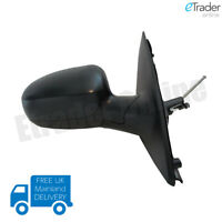 Vauxhall Corsa C 2000-2006 Manual Black Wing Door Mirror Drivers Side Right O/S