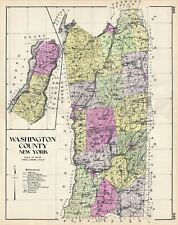 1912 Century Map of Washington County, New York
