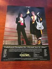 1988 Vintage 8X11 Print Ad For Kramer Guitar With Eddie Van Halen Dennis Berardi