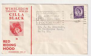 Cilla Black 1965 Little Red Riding Hood Wimbledon Theatre envelope