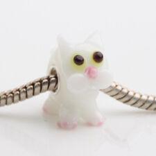 1pcs MURANO GLASS BEAD LAMPWORK Fit European Charm Bracelet DW330 lovely Animal
