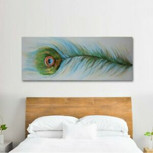 *Feather* Hand Painted Oil Painting On Canvas Ready to Hang Wall (With Frame)