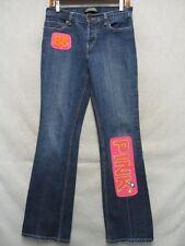 D1118 London Stretch Cool Pink Enhanced Boot Cut Jeans Women 29x33