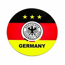 GERMANY DEUTSCHER.. LOGO FIFA SOCCER WORLD CUP CAR MAGNET..SIZE : 6.2 X 6.2 INCH
