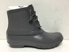 Sperry Saltwater Rubber Dip Boots Women in Dark Grey Size 8.5M…