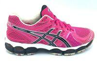 Asics Gel Nimbus 14 Womens Size 8.5 Running Shoes Neon Pink Black T291N EUC