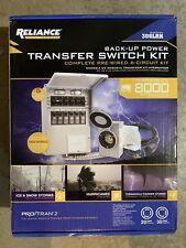 New Listingreliance Controls Back Up Power Transfer Switch Kit 306lrk Up To 8000 Watts