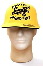 Fox Moto X Super Fox Grand Prix Yellow Cap Hat Adult Fitted 6 7/8 - 7 1/4 NWT