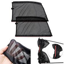 2PC 46x37cm Black Mesh Cool Car Side Window Curtain Interior Sun Shade Visor