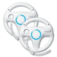 2X Generic Wii Controller Lenkrad Racing Wheel für Nintendo Wii Remote Game Weiß