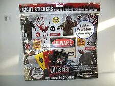 Giant Stickers 24 Each Zombies Stick To And Remove From Any Surface. New