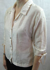 Sally Smith Sydney Size 8 Cream Linen Button Blouse