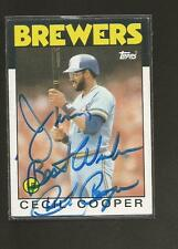 Autographed Baseball Card - CECIL COOPER - Milwaukee Brewers - Topps #385
