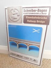 SCHREIBER-BOGEN, RAILWAY BRIDGE, HO GAUGE. CARD MODEL KIT. NEW SEALED.GERMANY