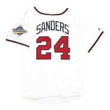 Deion Sanders Atlanta Braves 1992 World Series Home White Jersey Men's Large