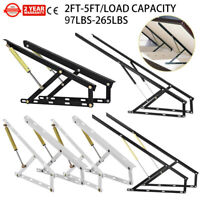 2FT/3FT/4FT/5FT Pneumatic Sofa Bed Lift Mechanism Kits DIY Hardware Steel 1 Pair
