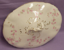 JOHN MADDOCK & SONS ROYAL VITREOUS Pink Flowers LID for DISH ANTIQUE 1880-96