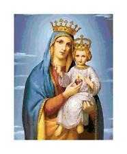 Catholic Mary & Jesus Madonna DIGITAL Counted Cross Stitch Pattern Needlepoint
