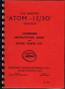 "Barford ""Atom-15/30"" Garden Tractor Instruction Book"