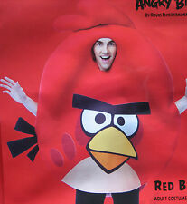 ANGRY BIRDS Red Bird Adult Costume Halloween NEW