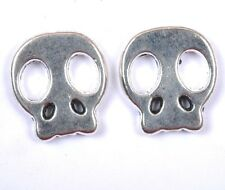 20pcs tibetan silver carved oblate skull Spacer beads 21x19x3MM SH1212