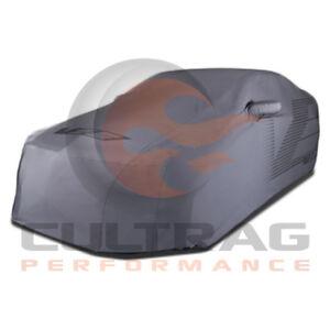 2016-2018 Cadillac ATS-V Coupe Outdoor Car Cover Gray V Logo 23438358
