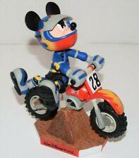 Walt Disney World Mickey Mouse Bobblehead Dirt Bike Motocross Motorcycle Figure