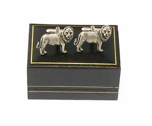 Leo The Lion Pewter Cufflinks Ideal Mens Birthday Gift Boxed 216