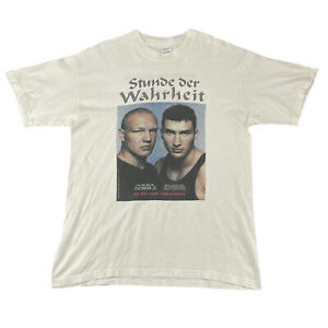 Stunde Der Wahrheit Schulz Vs Klitschko 1999 Boxing T-shirt White Size L