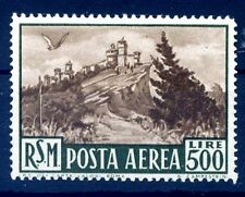 SAN MARINO 1951 -  VEDUTA CENTRATISSIMO  POSTA AEREA   NUOVO  **