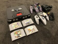 Nintendo 64 Console with Controllers Mario Kart Star Wars Pokemon
