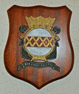 Netherlands Marine Corps Van Ghent Kazerne plaque shield crest gedenkplaat Dutch