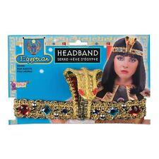 EGYPTIAN GODDESS JEWELLED SNAKE HEADHAND ladies fancy dress costume accessory