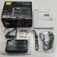 Nikon COOLPIX S3700 noir 20.1MP 8x Optical Zoom WiFi HD Digital (LOOK DESC.) F15