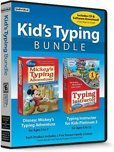 Kid's Typing Bundle: Mickeys Typing Adventure with Typing Instructor PC NEW!