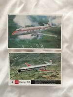 2 BEA VINTAGE POSTCARDS - VISCOUNT 800 & COMET 4B
