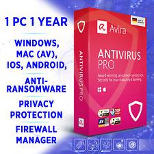 Avira Antivirus Pro 1 device 1 year 2020 full edition