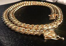 "14k Gold Cuban Link Necklace 10mm 193.8 Grams 24"""