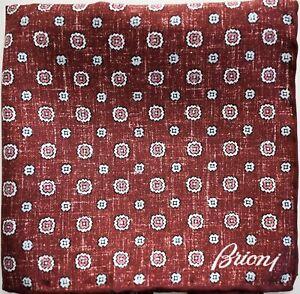 🆕️ NEW Auth BRIONI FLORAL PAISLEY 100% SILK Pocket Square Pochette Handkerchief