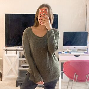 Charlotte Russe Olive Green Sweater Size Small